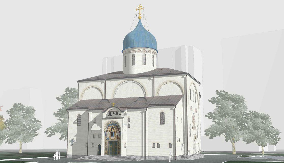 На юге Москвы началось строительство храма Похвалы Пресвятой Богородицы