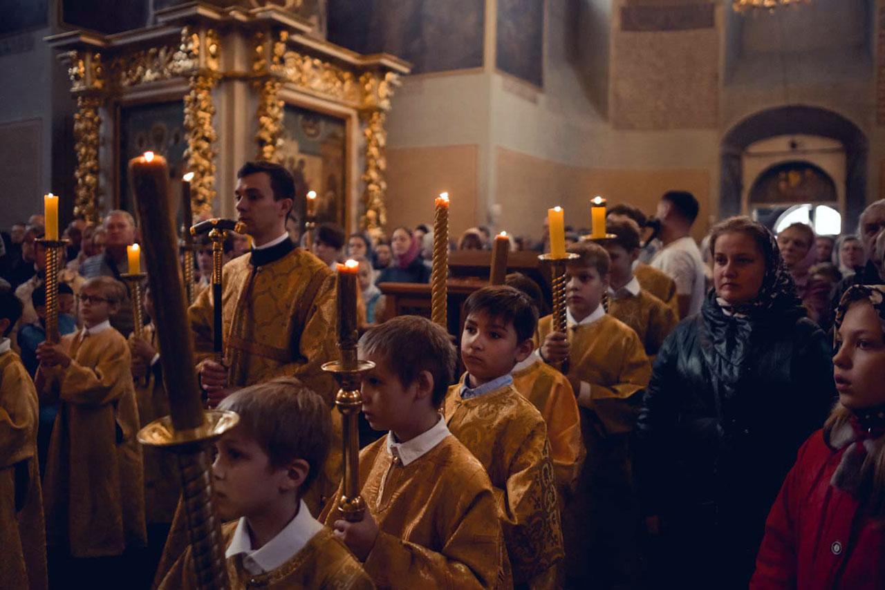 Детская Литургия в Донском монастыре