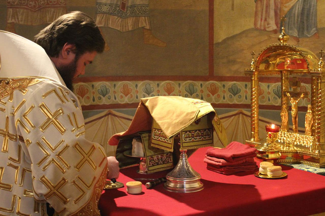 Молодежная Литургия в Донском монастыре