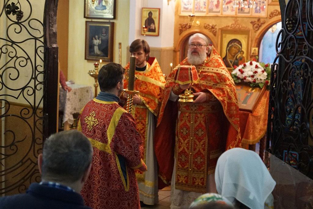 Престольный праздник в домовом храме святого мученика Трифона при ПНИ №30