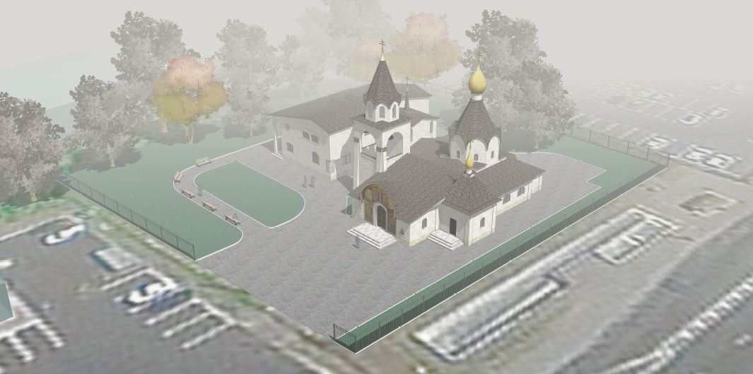 Москомархитектура согласовала эскизный проект храма на улице Подольских курсантов в Москве