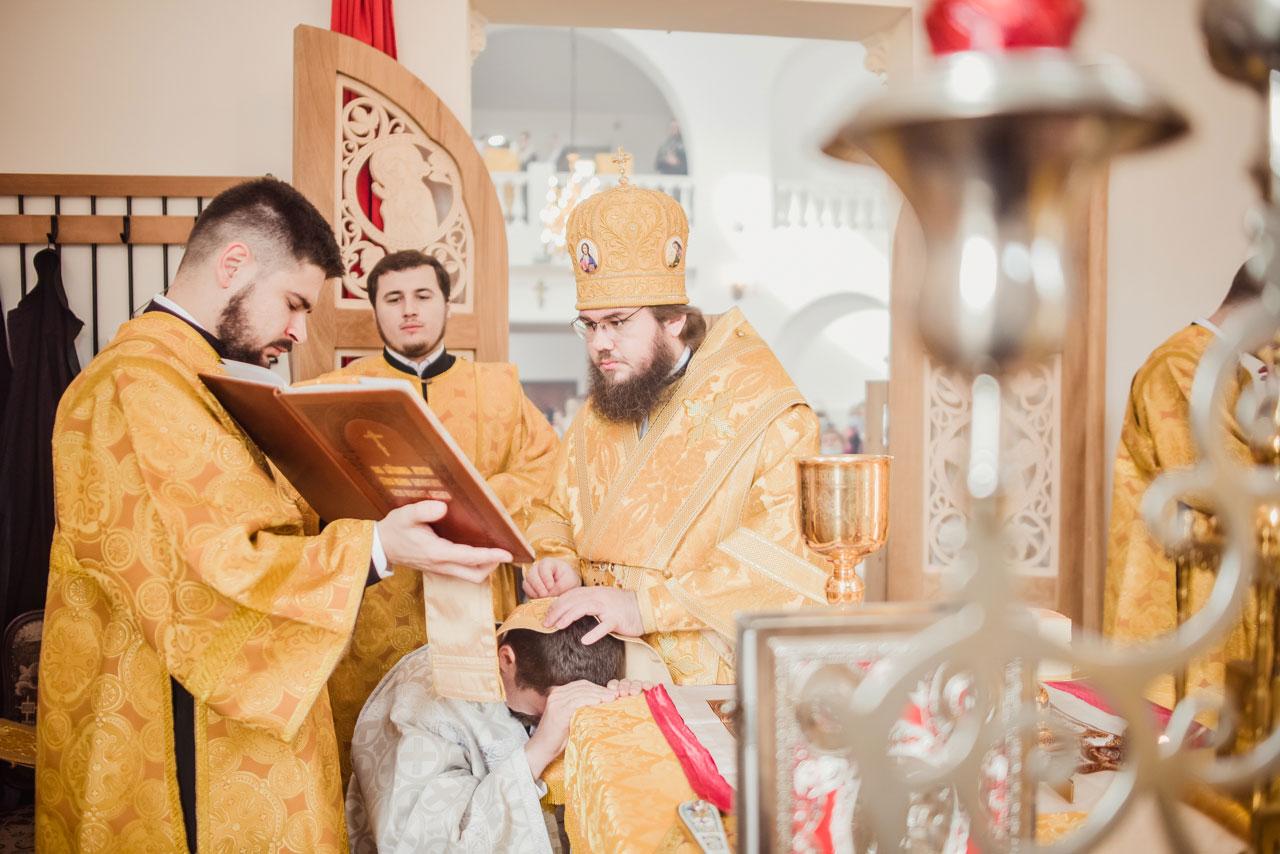 Епископ Сергиево-Посадский Фома совершил диаконскую хиротонию