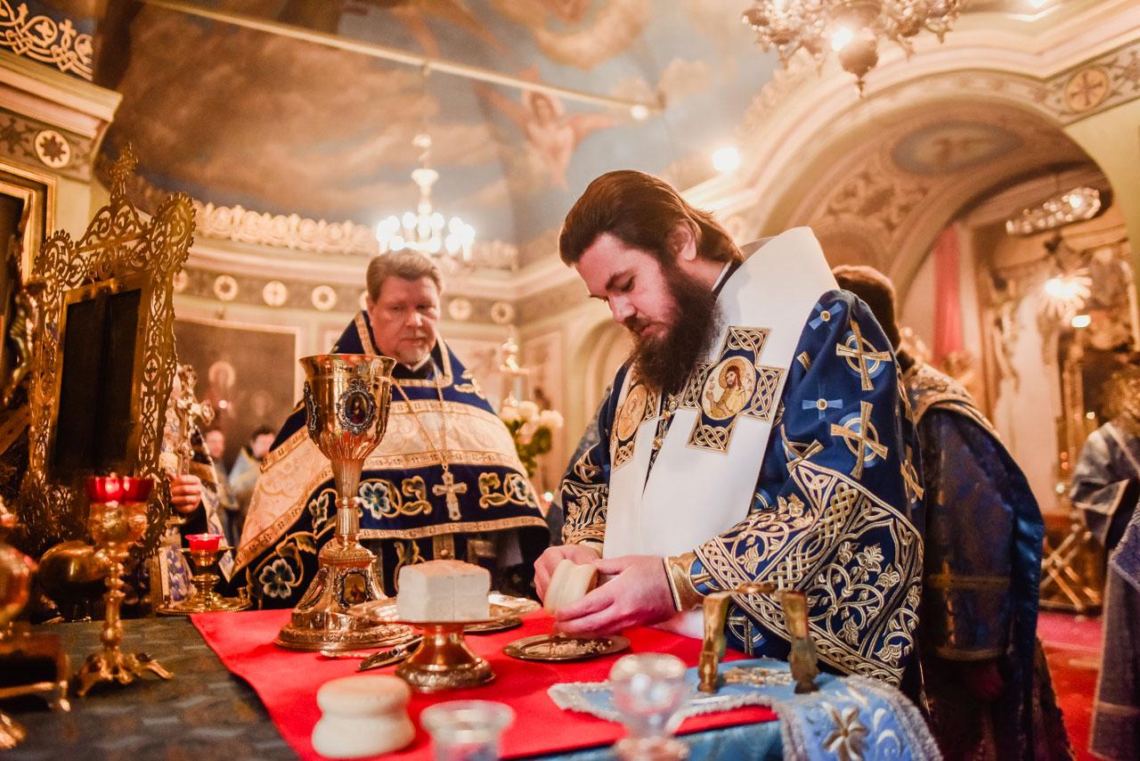 Управляющий Южным викариатством совершил Литургию в храме Ризоположения на Донской