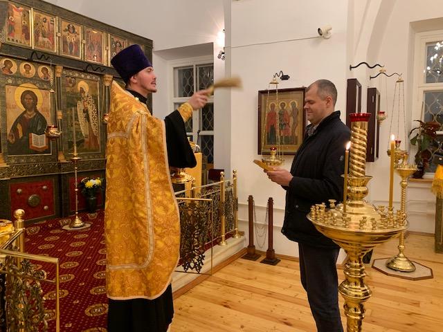 Молебен по случаю избрания председателя Московского отделения Всероссийского общества глухих