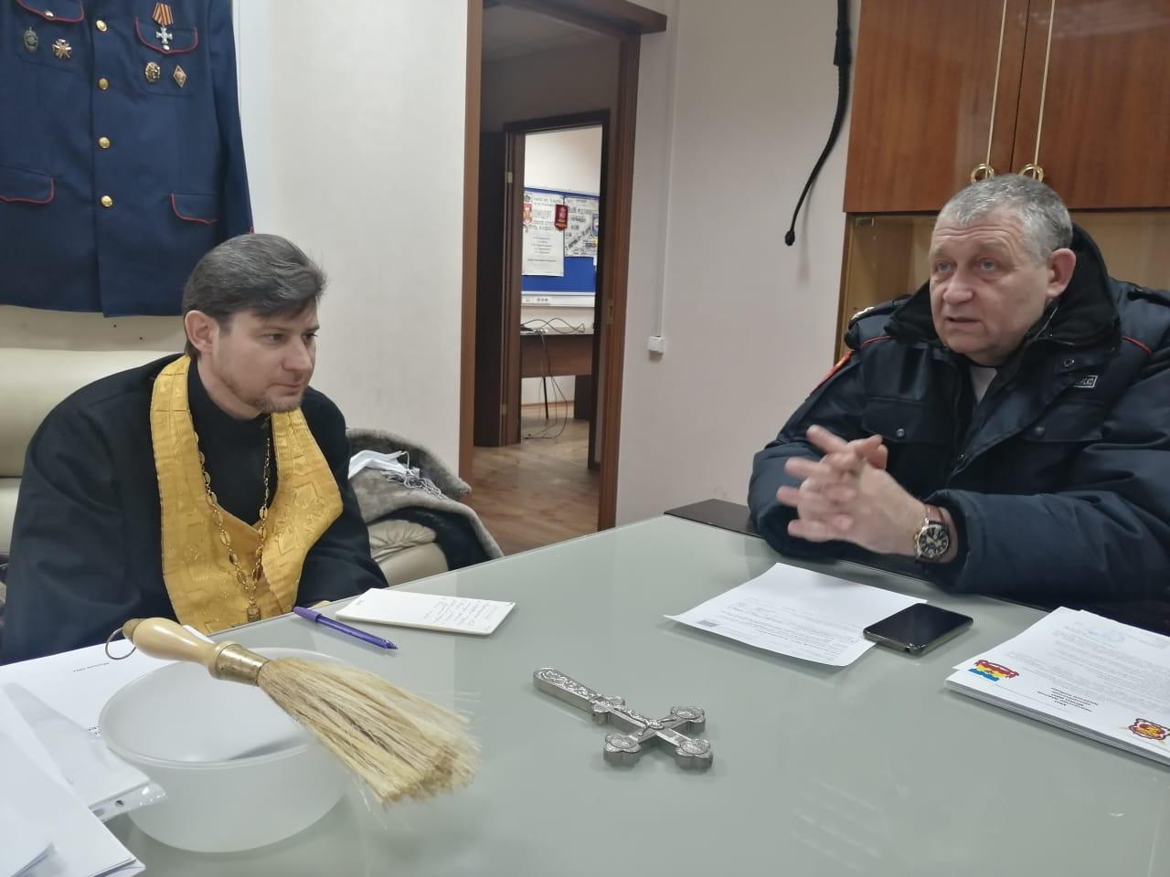 Молебен и совет правления казачьего хутора