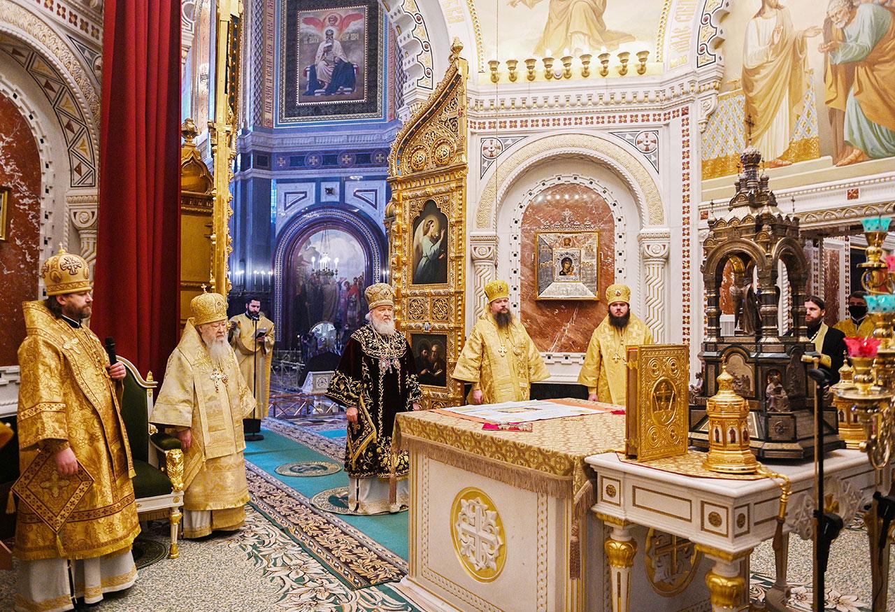 Епископ Сергиево-Посадский Фома сослужил Святейшему Патриарху Кириллу в Храме Христа Спасителя