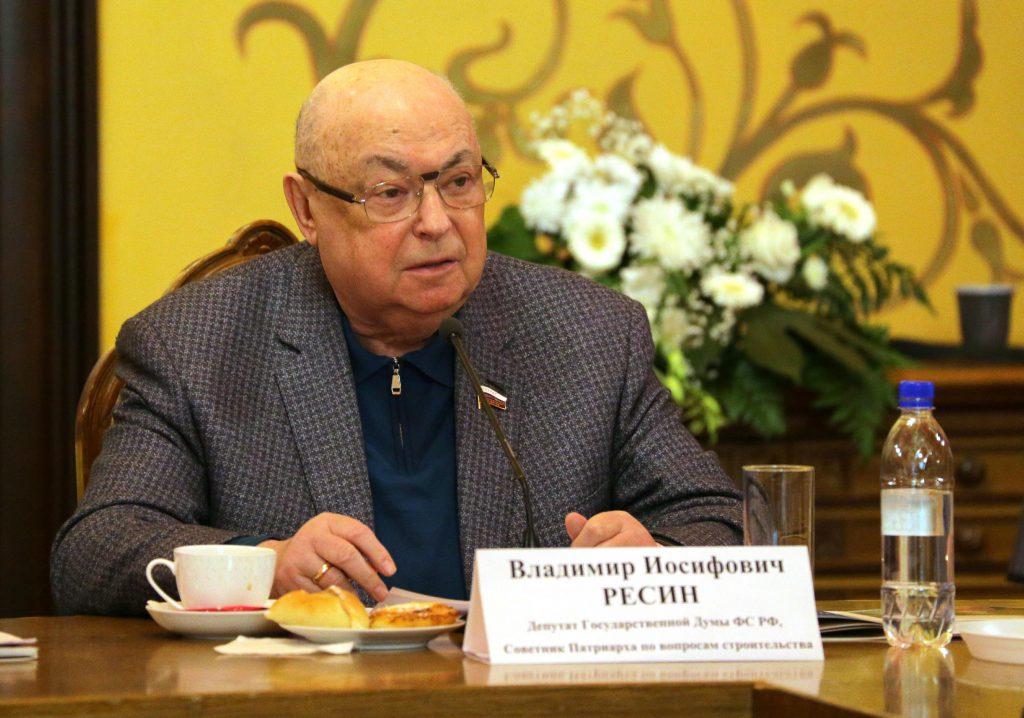 Советник Патриарха по вопросам строительства В.И. Ресин