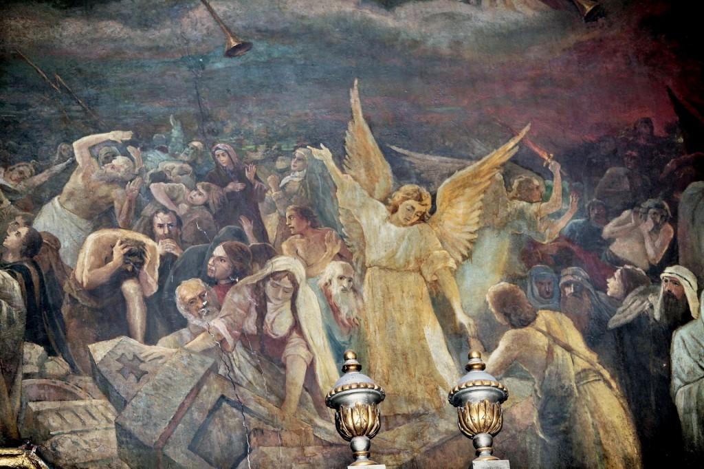 Фрагмент фрески Страшного Суда. Трапезный храм Свято-Троицкой Сергиевой Лавры