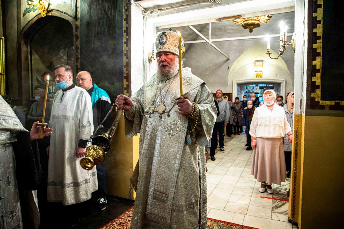 Торжественное богослужение в праздник Вознесения Господня в храме Казанской иконы Божией Матери в Коломенском